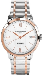 Baume & Mercier Classima Silver colored/Rose gold colored steel Ø40 mm M0A10217