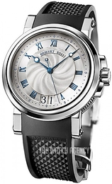 Breguet Marine Silver colored/Rubber Ø39 mm 5817ST-12-5V8