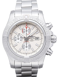 Breitling Super Avenger II Chronograph Antique white/Steel Ø48 mm A1337111.G779.168A