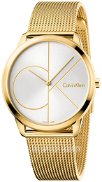 Calvin Klein Minimal White/Yellow gold toned steel Ø40 mm K3M21526