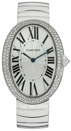 Cartier Baignoire Silver colored/18 carat white gold Ø34.07 mm WB520010