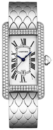 Cartier Tank Americaine Silver colored/18 carat white gold WB710011