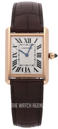 Cartier Tank Louis Silver colored/Leather WGTA0011