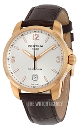 Certina DS Podium Silver colored/Leather Ø38 mm C001.410.36.037.01