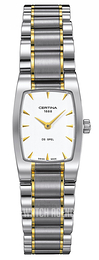 Certina DS Mini Spel Silver colored/Yellow gold toned steel 20x25 mm C012.109.22.031.00