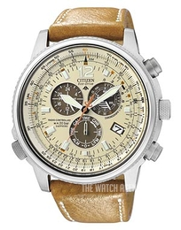 Citizen Radio Controlled Promaster Sky Beige/Leather Ø44 mm AS4020-44B