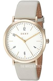 DKNY Dress White/Leather Ø36 mm NY2507