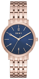 DKNY Dress Blue/Rose gold colored steel Ø36 mm NY2611