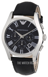Emporio Armani Classic Black/Leather Ø42 mm AR1633