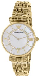 Emporio Armani Dress White/Yellow gold toned steel Ø32 mm AR1907