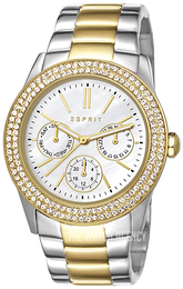Esprit Sport Silver colored/Yellow gold toned steel Ø38 mm ES103822015