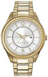 Esprit Dress Silver colored/Yellow gold toned steel Ø38 mm ES108852002