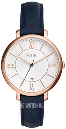 Fossil Dress Silver colored/Leather Ø36 mm ES3843