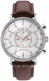 Gant Cameron Silver colored/Leather Ø45 mm W10896