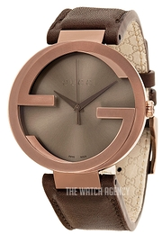 03dcd2b4e6f Gucci Interlocking Brown Leather Ø42 mm YA133207