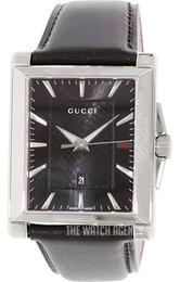 723d4ed7d38 Gucci G- Frame Black Leather YA138404