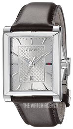 a3a042aac2f Gucci G- Frame Silver colored Leather YA138405