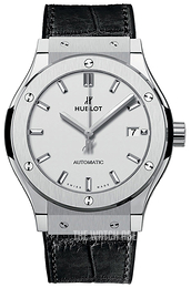 Hublot Classic Fusion Silver colored/Leather Ø42 mm 542.NX.2611.LR
