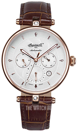 Ingersoll White/Leather Ø38 mm IN1318RWH
