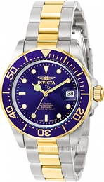 Invicta Pro Diver Blue/Yellow gold toned steel Ø40 mm 9310