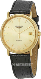 Longines Grande Classique Yellow gold toned/Leather Ø34.5 mm L4.821.2.32.2