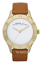 Marc by Marc Jacobs Blade White/Leather Ø40 mm MBM1218