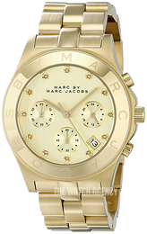Marc by Marc Jacobs Blade Yellow gold toned/Yellow gold toned steel Ø40 mm MBM3101