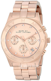 Marc by Marc Jacobs Blade Rose gold colored/Rose gold colored steel Ø40 mm MBM3102