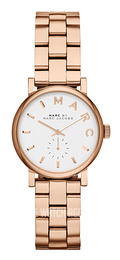Marc by Marc Jacobs Baker White/Rose gold colored steel Ø28 mm MBM3248