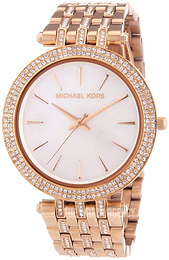 Michael Kors Darci White/Rose gold colored steel Ø39 mm MK3220