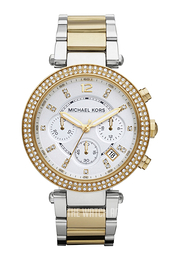 Michael Kors Parker White/Yellow gold toned steel Ø39 mm MK5626