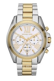 Michael Kors Bradshaw Silver colored/Yellow gold toned steel Ø43 mm MK5627