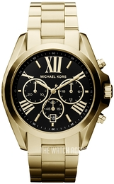 Michael Kors Bradshaw Black/Yellow gold toned steel Ø43 mm MK5739