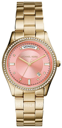 Michael Kors Colette Pink/Yellow gold toned steel Ø34 mm MK6143