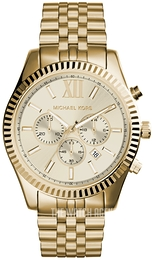 Michael Kors Lexington Champagne colored/Yellow gold toned steel Ø46 mm MK8281