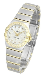 Omega Constellation Quartz 24mm White/18 carat yellow gold Ø24 mm 123.25.24.60.55.010