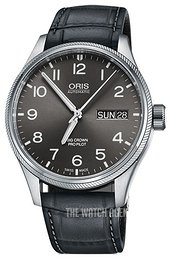 Oris Aviation Grey/Leather Ø45 mm 01 752 7698 4063-07 5 22 06FC
