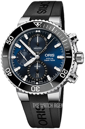 Oris Diving Blue/Rubber Ø45.5 mm 01 774 7743 4155-07 4 24 64EB
