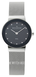 Skagen Freja Black/Steel Ø26 mm 358SSSBD