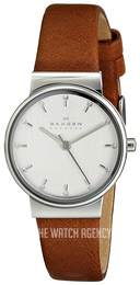 Skagen Ancher Silver colored/Leather Ø26 mm SKW2192