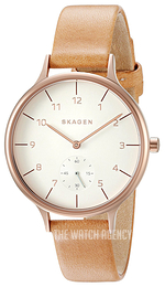 Skagen Anita White/Leather Ø34 mm SKW2405