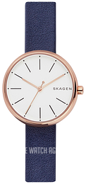 Skagen White/Leather Ø30 mm SKW2592