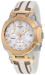 Tissot T-Race Chronograph White/Rubber Ø50.26 mm T048.417.27.012.00