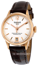 Tissot Chemin Des Tourelles Automatic Lady Silver colored/Leather Ø32 mm T099.207.36.037.00