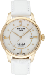 Tissot Le Locle Automatic Gent White/Leather Ø39.3 mm T41.5.453.86