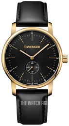 Wenger Urban Classic Black/Leather Ø42 mm 01.1741.101