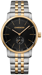 Wenger Urban Classic Black/Yellow gold toned steel Ø42 mm 01.1741.104