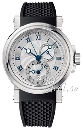 Breguet Marine Silver colored/Rubber Ø42 mm 5857ST-12-5ZU