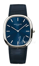 Patek Philippe Golden Ellipse Blue/Leather 35.6x31.1 mm 5738P/001