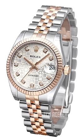 Datejust 31 Silver Colored Steel O31 Mm Ref 178271 0024
